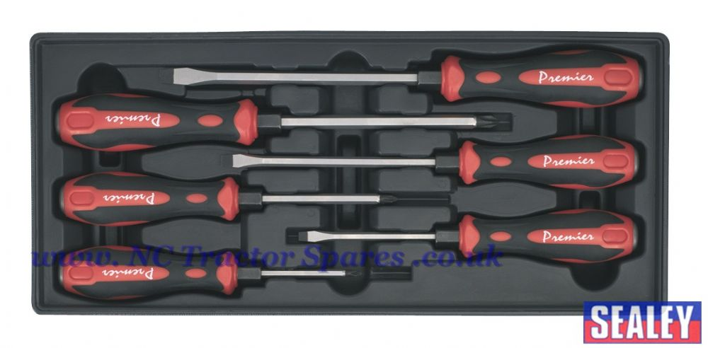 Tool Tray with Hammer-Thru Screwdriver Set 6pc